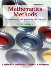 Mathematics Methods for Elementary and Middle School Teachers 6th edition 9780470136294 0470136294