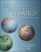 Crafting and Executing Strategy: The Quest for Competitive Advantage:  Concepts and Cases 16th edition 9780073381244 0073381241