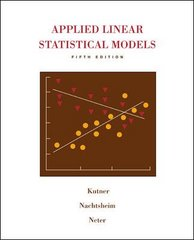 Applied Linear Statistical Models with Student CD 5th edition 9780073108742 007310874X