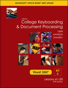 Gregg College Keyboarding & Document Processing, Word 2007 Update, Kit 2, Lessons 61-120 10th edition 9780077212551 007721255X