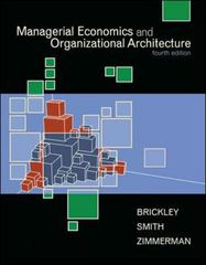 Managerial Economics and Organizational Architecture 4th edition 9780073523019 0073523011