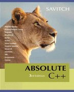 Absolute C++ 3rd edition 9780321468932 0321468937