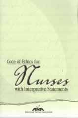 Code of Ethics for Nurses With Interpretive Statements 1st Edition 9781558101760 1558101764
