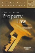 Principles of Property Law Concise Hornbook 6th Edition 9780314150455 0314150455