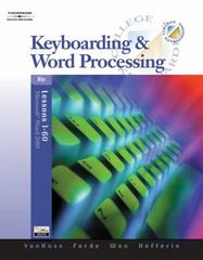 Keyboarding & Word Processing, Lessons 1-60 (with Data CD-ROM) 16th edition 9780538728003 0538728000