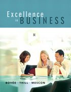 Excellence in Business 3rd edition 9780131870475 0131870475