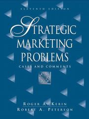 Strategic Marketing Problems: Cases and Comments 11th edition 9780131871526 0131871528