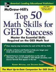 McGraw -Hill's Top 50 Math Skills For GED Success 1st edition 9780071445221 0071445226