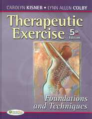 Therapeutic Exercise 5th edition 9780803615847 0803615841