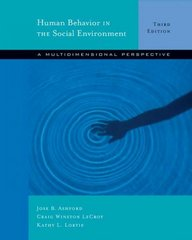 Human Behavior in the Social Environment 3rd Edition 9780534642761 0534642764