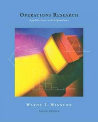 Operations Research 4th Edition 9780534380588 0534380581