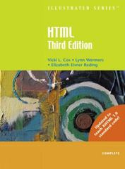 HTML Illustrated Complete 3rd edition 9780619268442 0619268441