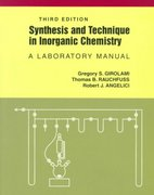 Synthesis and Technique in Inorganic Chemistry 3rd Edition 9780935702484 0935702482