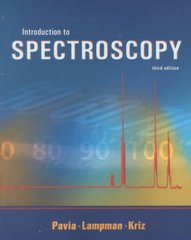 Introduction to Spectroscopy 3rd edition 9780030319617 0030319617