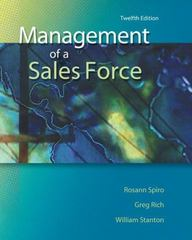 Management of a Sales Force 12th Edition 9780073529776 007352977X