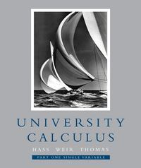 University Calculus, Part One (Single Variable, Chap 1-9) 1st edition 9780321454201 0321454200