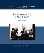 Employment and Labor Law 6th edition 9780324649970 0324649975