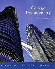 College Trigonometry 5th edition 9780618388042 0618388044