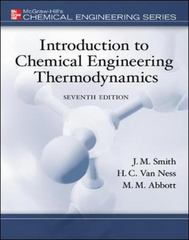 Introduction to Chemical Engineering Thermodynamics 7th Edition 9780073104454 0073104450