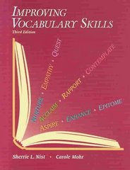 Improving Vocabulary Skills 3rd Edition 9780944210130 0944210139