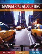Managerial Accounting 3rd Edition 9780471661788 0471661783