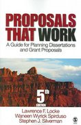 Proposals That Work 5th edition 9781412924238 1412924235