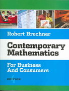Contemporary Mathematics for Business and Consumers (with CD-ROM) 4th edition 9780324224221 0324224222