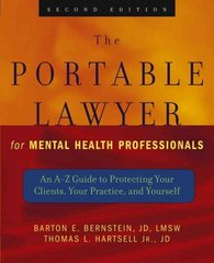 The Portable Lawyer for Mental Health Professionals 2nd edition 9780471465515 0471465518