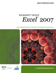 New Perspectives on Microsoft Office Excel 2007, Comprehensive 1st edition 9781423905851 1423905857