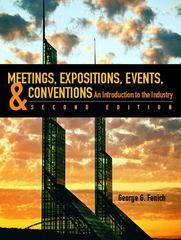 Meetings, Expositions, Events & Conventions 2nd edition 9780132340571 0132340577