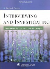 Interviewing and Investigating 3rd edition 9780735563858 0735563853
