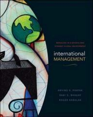 International Management: Managing in a Diverse and Dynamic Global Environment 1st edition 9780072819069 0072819065