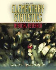 Elementary Statistics in Social Research 10th edition 9780205459582 0205459587