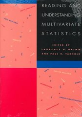 Reading and Understanding Multivariate Statistics 1st Edition 9781557982735 1557982732