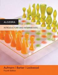 Algebra 4th edition 9780618609536 0618609539