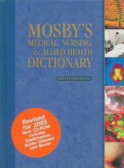 Mosby's Medical, Nursing, & Allied Health Dictionary - Revised Reprint 6th Edition 9780323037365 0323037364