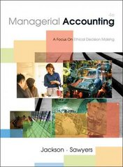 Managerial Accounting 4th edition 9780324650648 0324650647
