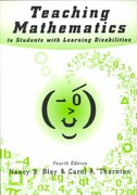 Teaching Mathematics to Students with Learning Disabilities 4th Edition 9780890798577 0890798575
