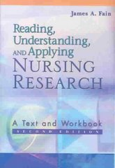Reading, Understanding, and Applying Nursing Research 2nd Edition 9780803611122 0803611129