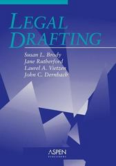 Legal Drafting 1st Edition 9780735516939 0735516936