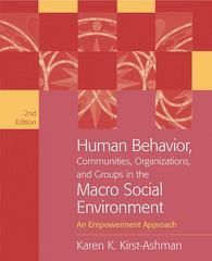 Human Behavior, Communities, Organizations, and Groups in the Macro Social Environment 2nd edition 9780495095149 0495095141