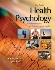 Health Psychology 6th Edition 9780495090656 0495090654