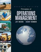Principles of Operations Management & Student CD & Student DVD 7th edition 9780136014898 0136014895