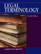 Legal Terminology 4th edition 9780130155986 0130155985