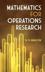 Mathematics for Operations Research 0 9780486164496 0486164497