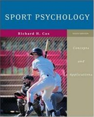 Sport Psychology: Concepts and Applications 6th edition 9780072972955 0072972955