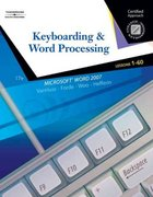 Keyboarding & Word Processing, Lessons 1-60 17th edition 9780538730242 0538730242