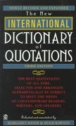New International Dictionary of Quotations, 3rd Edition 3rd edition 9780451199638 0451199634