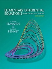 Elementary Differential Equations with Boundary Value Problems 6th edition 9780136006138 0136006132