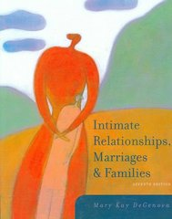 Intimate Relationships, Marriages, and Families 7th edition 9780073528106 0073528102